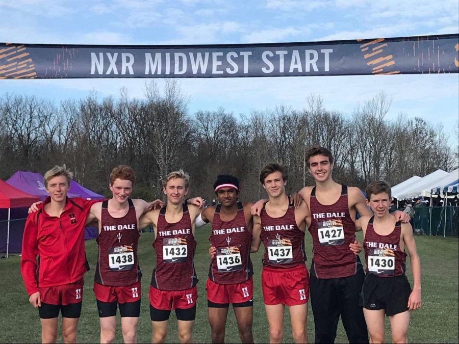 The+varsity+and+junior+varsity+boys+cross+country+team+placed+ninth+and+11th+at+the+Nike+Regional+meet.