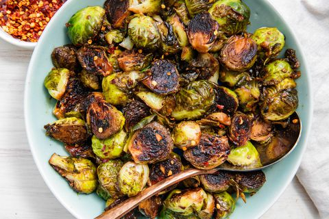 If this dish is baked right, you will be able to notice a golden caramelization on the outside of the brussel sprouts.