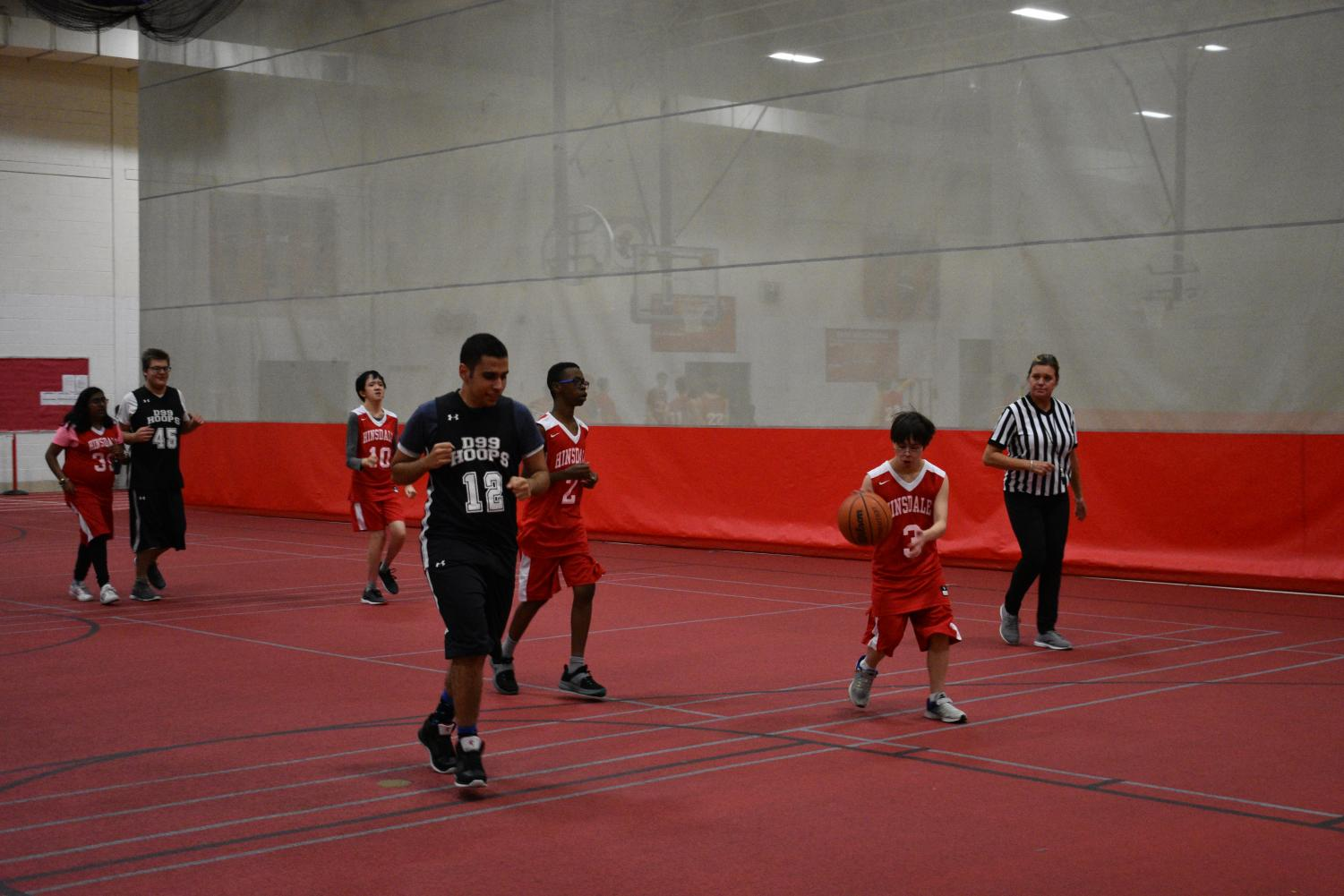 The Special Olympics basketball team played on Wednesday, Nov. 28 in the field house.