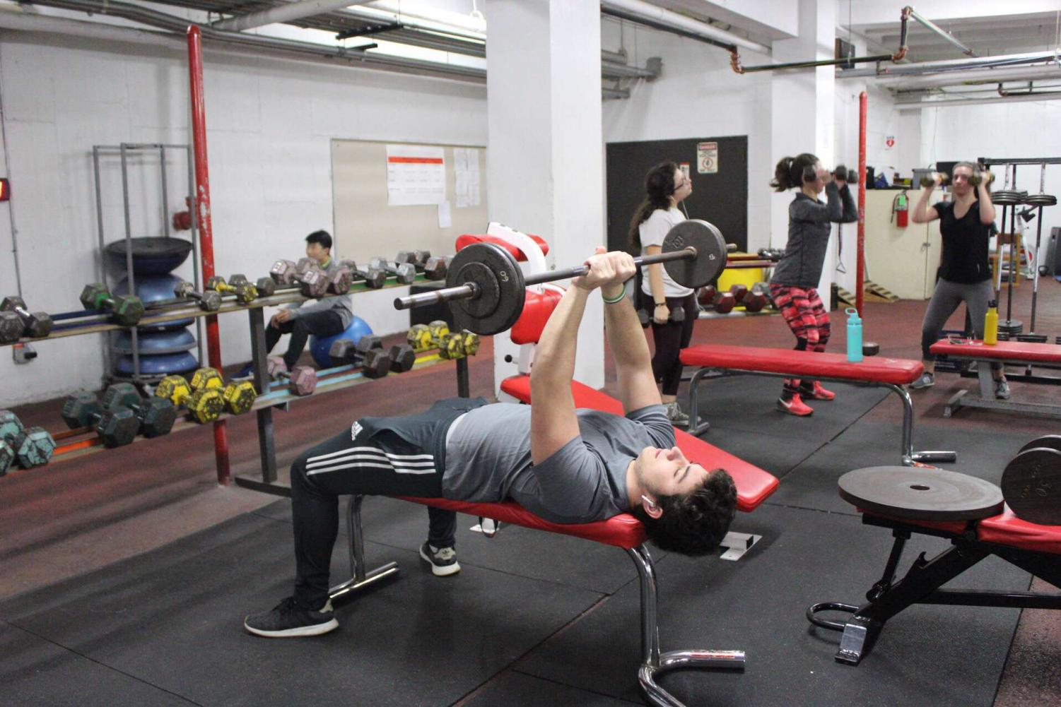 A common New Year's resolution for students is to improve their health and workout more.