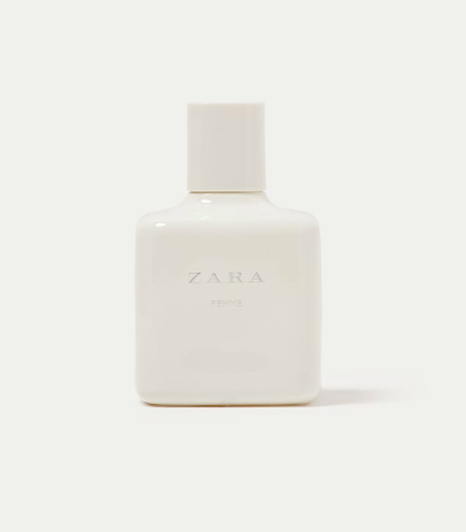 The scent reveals notes of peony, vanilla and spice.
