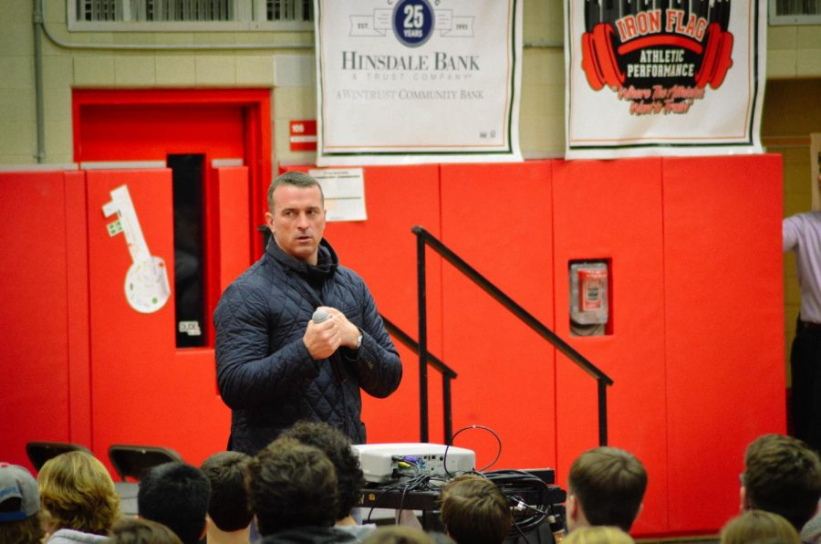 On+Wednesday%2C+Jan.+23%2C+Chris+Herren%2C+former+NBA+player%2C+spoke+to+all+grade+levels+in+the+gymnasium+about+the+causes+and+effects+of+his+drug+usage.+