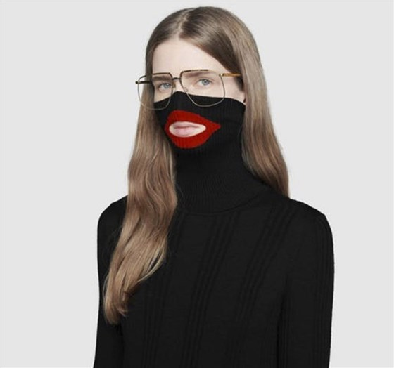 Gucci removed a black balaclava sweater from their online and physical stores.