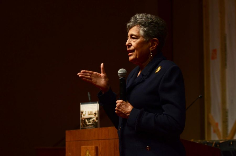 On Friday, Feb. 15, Carlotta Walls LaNier, member of the Little Rock Nine, spoke to the school about leadership, character, and overcoming adversity.