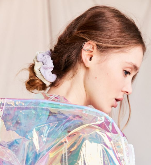 Changing the color of your scrunchie this Valentine's Day will add a little pop of color.