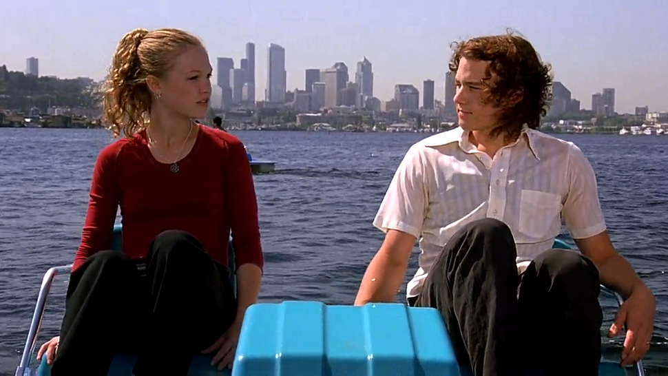 One classic romantic comedy sure to please this Valentine's day is 10 Things I Hate About You. This movie follows the development of a  humorous and lighthearted relationship between two students that's complicated by initial dishonesty and a sibling's intervention.