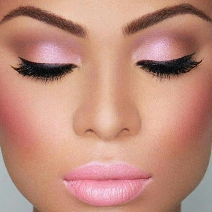 Adding soft pinks to your makeup look can make it look a lot more Valentine's Day-y