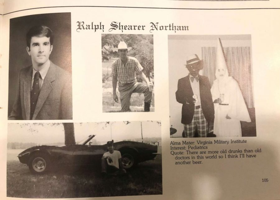 Virginia+Governor+Ralph+Northam+has+been+called+to+resign+after+photos+emerged+of+his+1984+medical+yearbook+page+of+him+wearing+blackface.