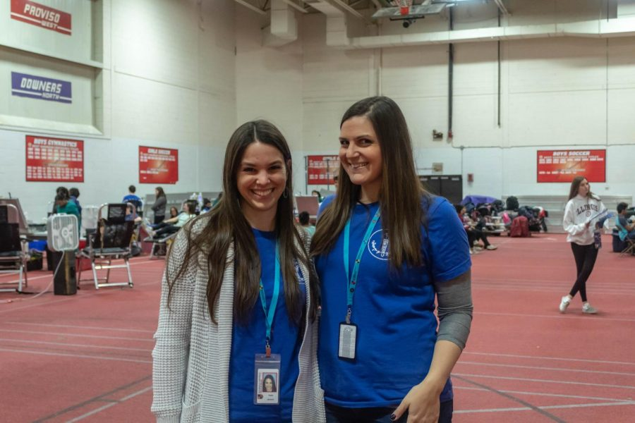 English Teachers Ms. Katie Janicek and Ms. Gina Chandler are sponsors for NHS and sponsored the blood drive.