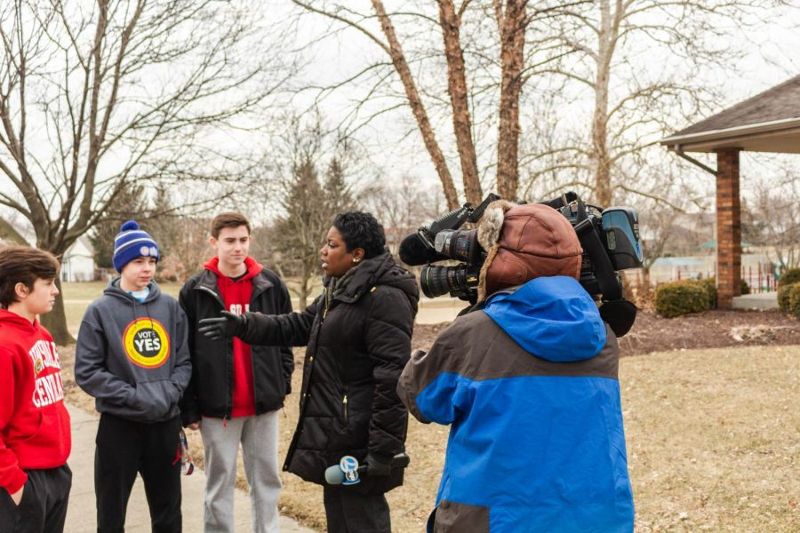 ABC+News+interviewed+students+who+were+canvassing+for+the+Yes+for+D86+campaign+on+Friday%2C+March+1.+