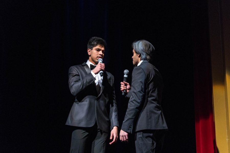 Seniors Ferzam Berki and Nabhan Rafiq hosted the Variety Show on Wednesday and Thursday, March 6 and 7.