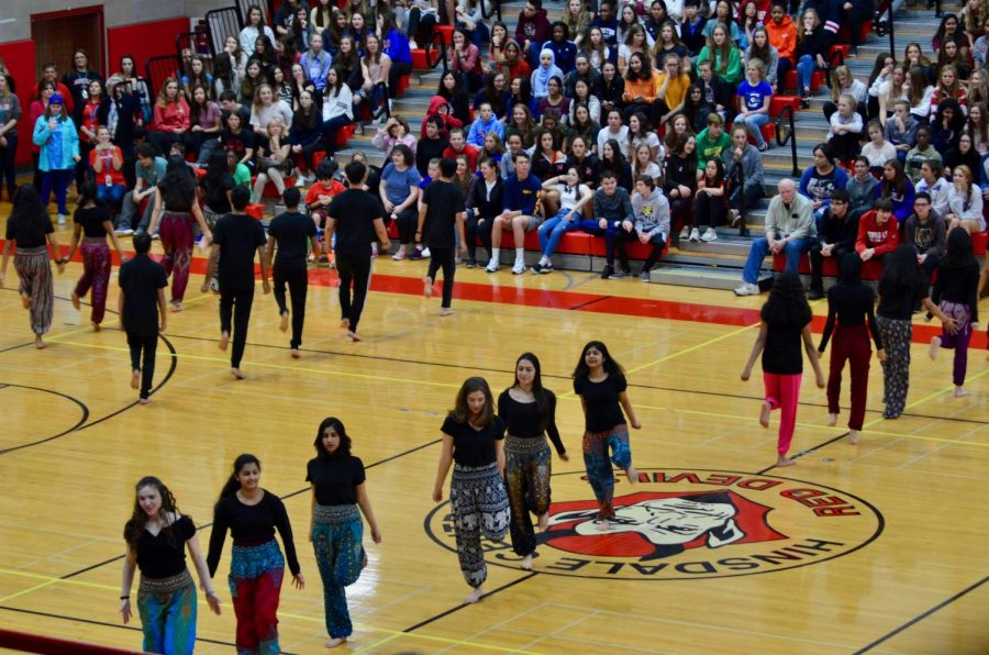 On Thursday, April 18, students from various cultural clubs participated in the ethnic fair, which was an all school assembly held in the gym.