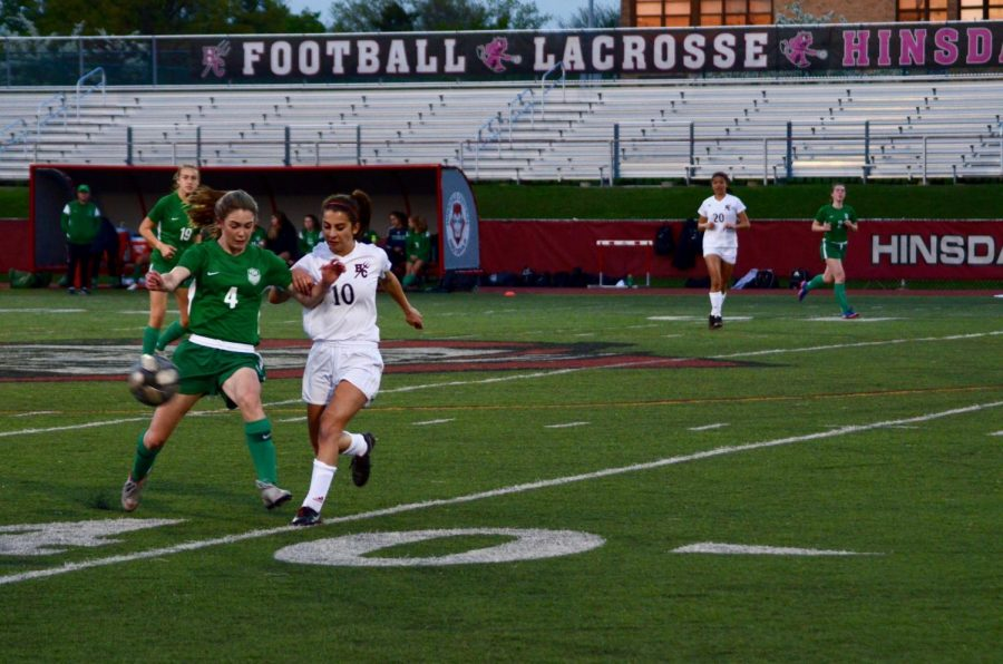 On Tuesday, May 14, girls soccer played against York in the IHSA Regional.