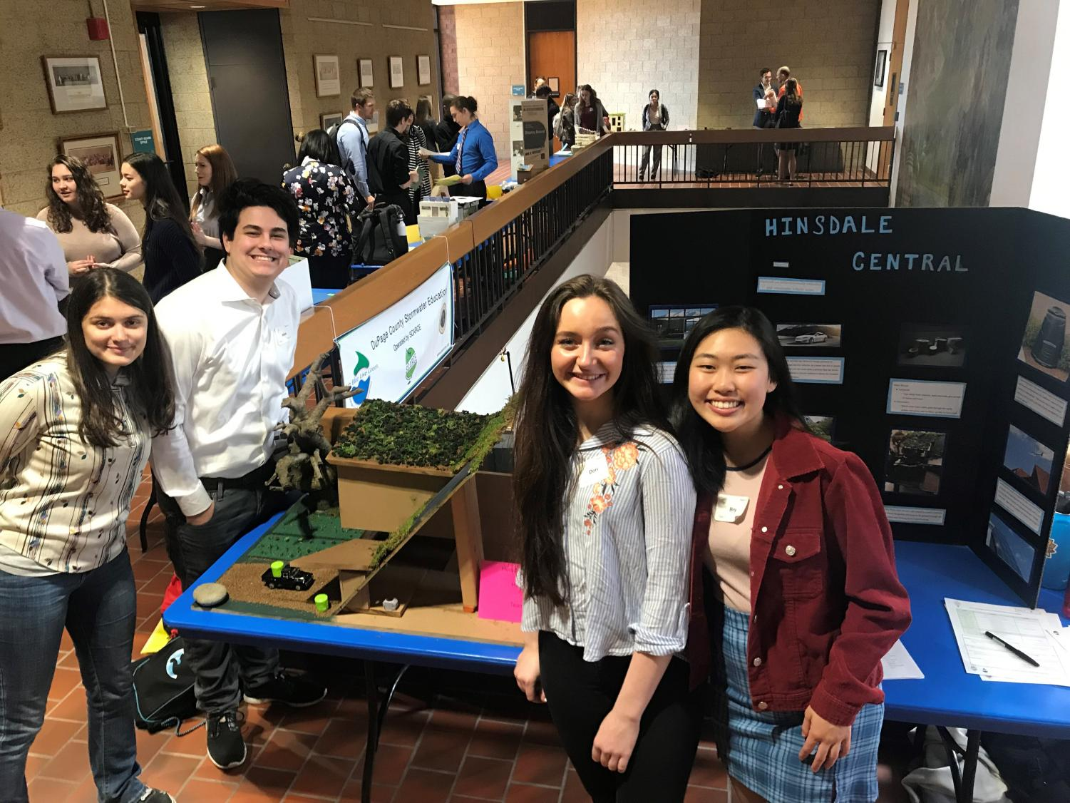 Ecology members, senior Alek Malone and juniors Emma Baroni, Dori Burkhart, and Bry Lee, recently won an Honorable Mention for their model building for its stormwater system. SCARCE held the competition on April 16 and announced winners on April 26, with all participants receiving a certificate and cash prize.