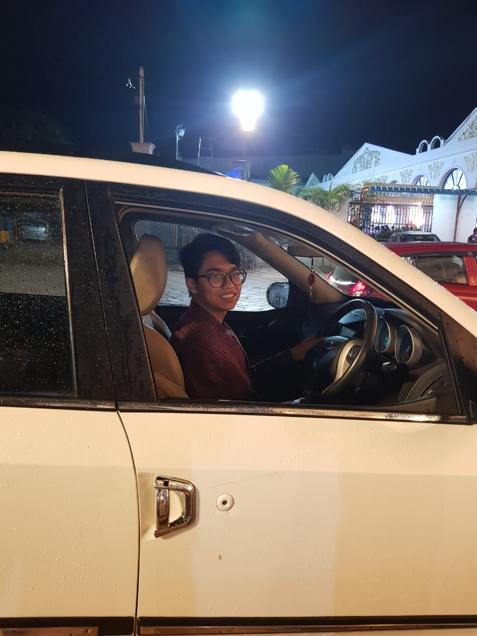 Junior Rayhan Hussain learned to drive stick in India.