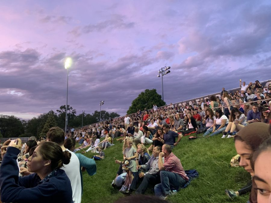 Family and friends filled the stands to support senior graduates.