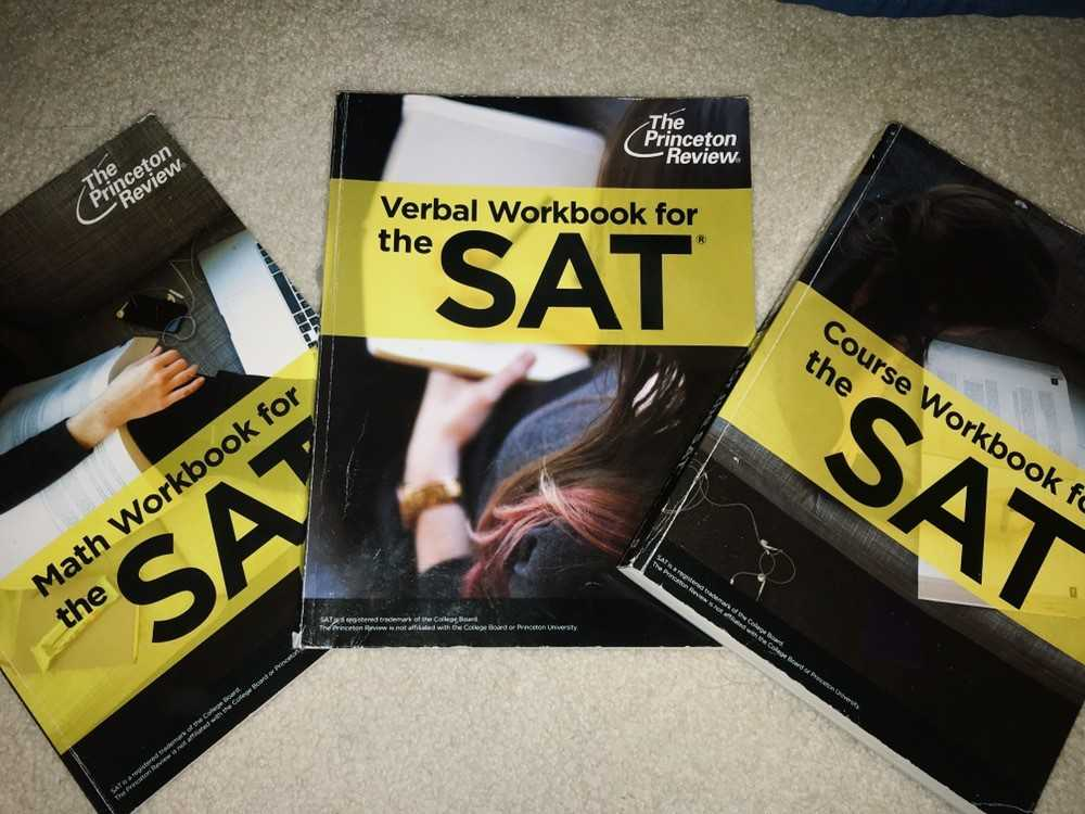 Students use practice SAT books in order to prepare them for the overwhelming exam.