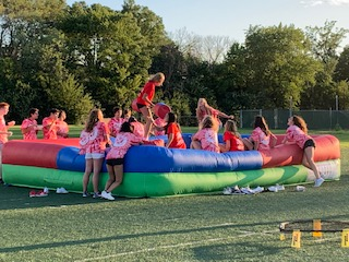 The jousting game was a new addition to this year's bash.