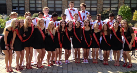 Seniors on homecoming court traditionally wear black dresses or white suits on the day before the Homecoming Dance.