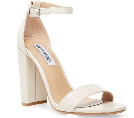 These ankle strap heels from Steve Madden are very comfortable, making them an ideal choice for the homecoming dance.