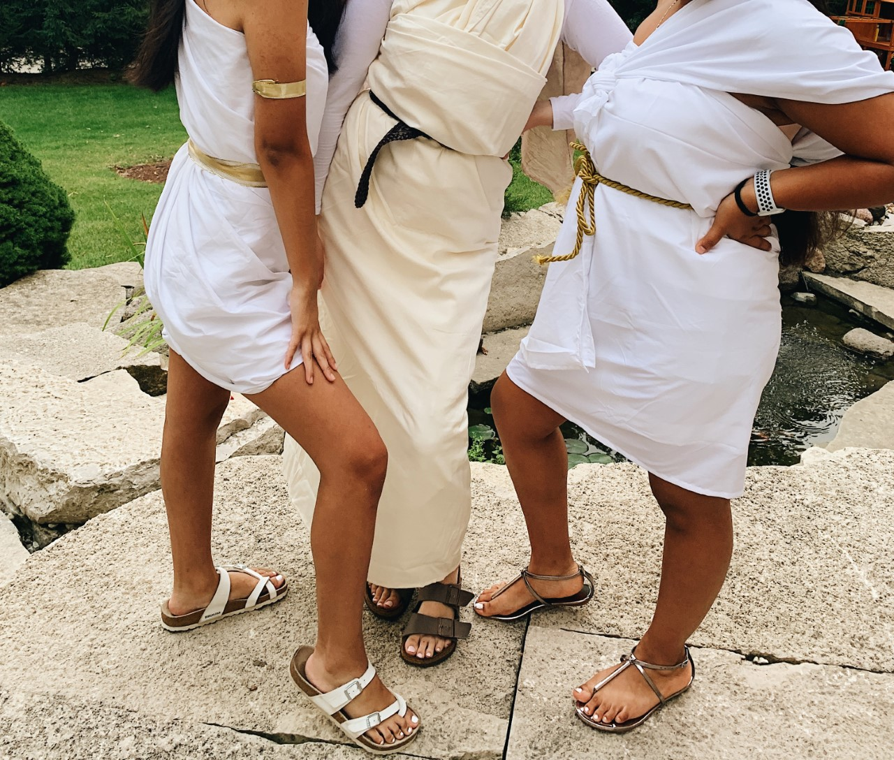 For toga day, togas are only meant to be worn by seniors.