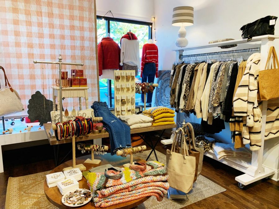 Local+stores+in+town%2C+such+as+Vintage+Charm%2C+offer+all+the+trends+for+this+fall%2C+including+colorful+sweaters+and+distressed+jeans.+