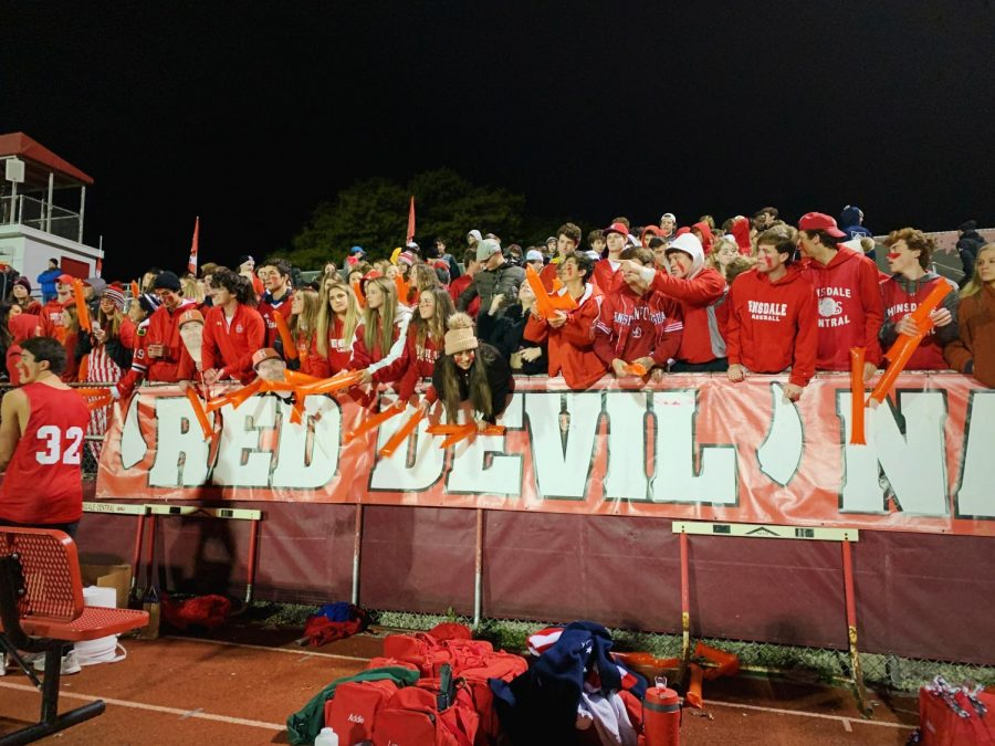 Red Devil Nation fills the student section with the dress theme of