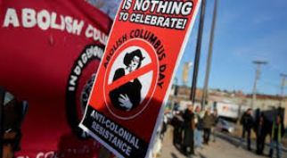 Many people across the United States have started protests to abolish Columbus Day, like this one in Arizona.