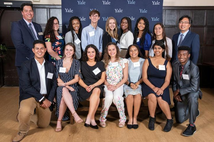 Pictured+here+are+the+15+recipients+of+the+Yale+Bassett+Award+at+the+Yale+campus.