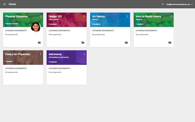 On flex learning days, many teachers assign homework on Google Classroom.