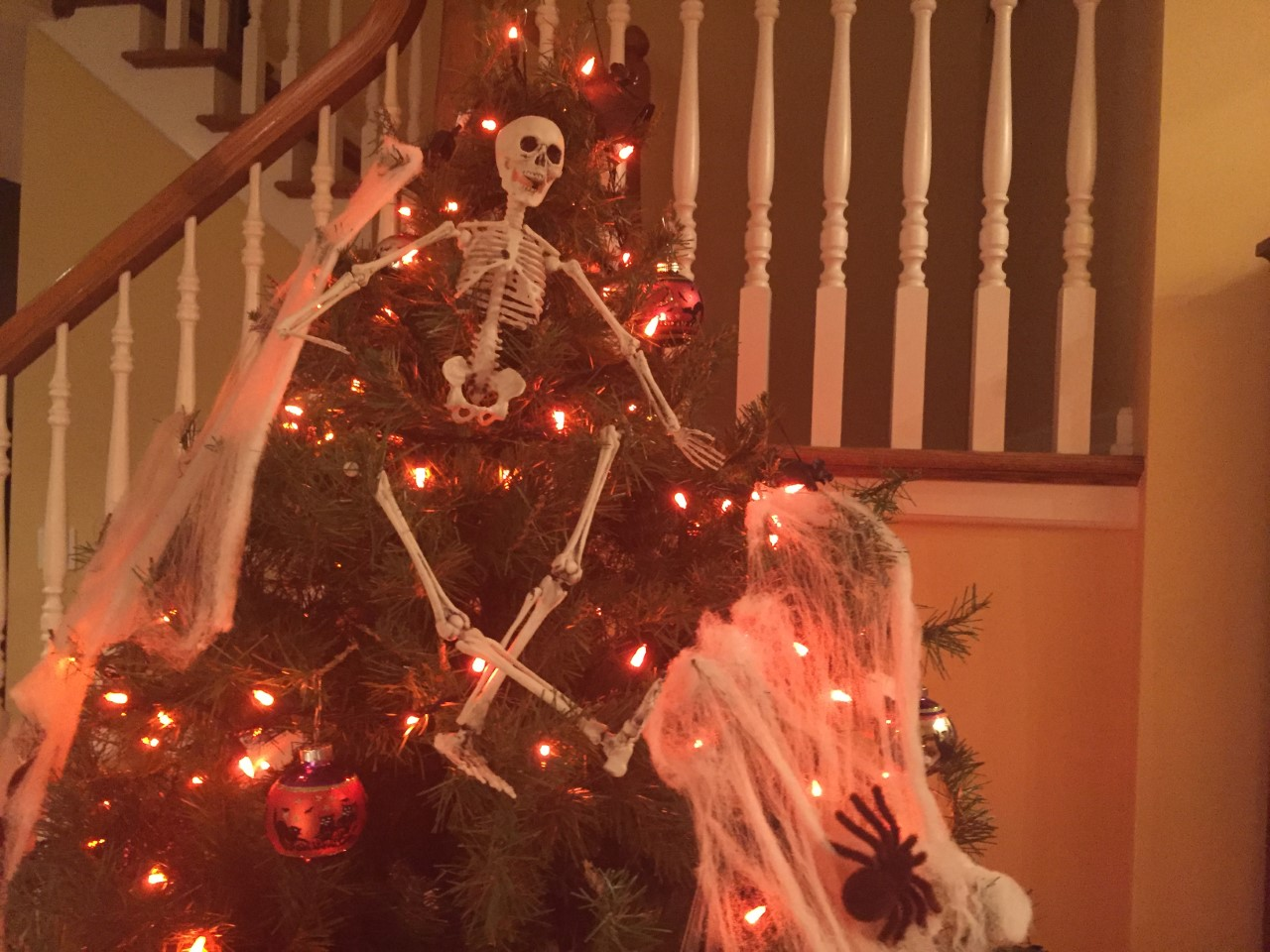 During the month of October,  many people decorate inside or outside their house.