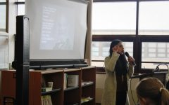 Author Samira Ahmed speaks to students on how she became a writer