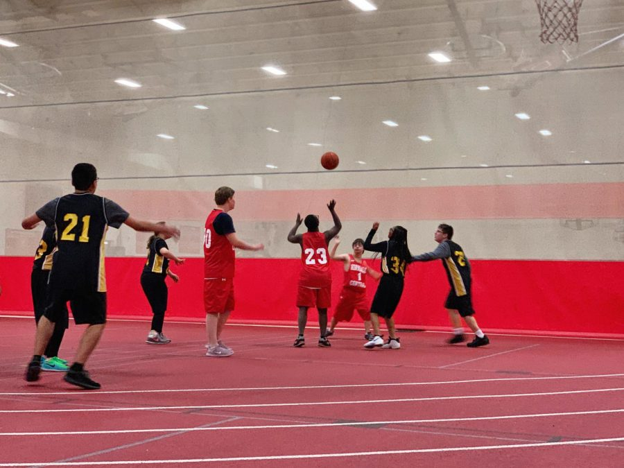 The Special Olympics basketball team plays against Hinsdale South in the Field House at 4:00 p.m. on Nov. 6.