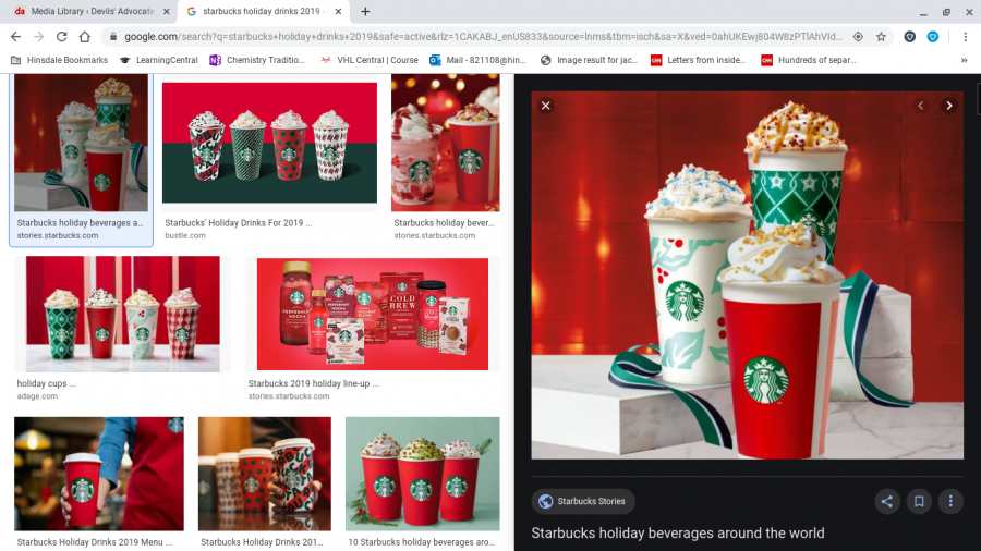 The drinks are famous because of their Christmas themed flavors.