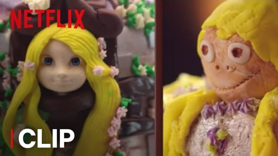 On the left is a princess cake and on the right is an attempt of a princess cake by one of the Nailed It contestants.