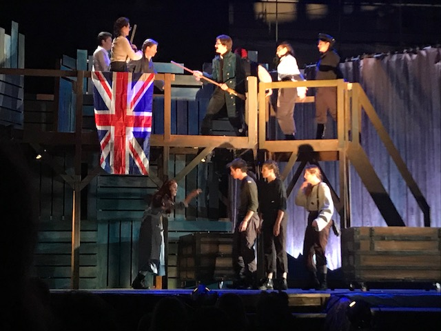 The set was elaborately put together by Charlie Cooper and a group of twenty students
