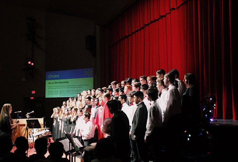 Choir III sang classical Christmas tunes such as