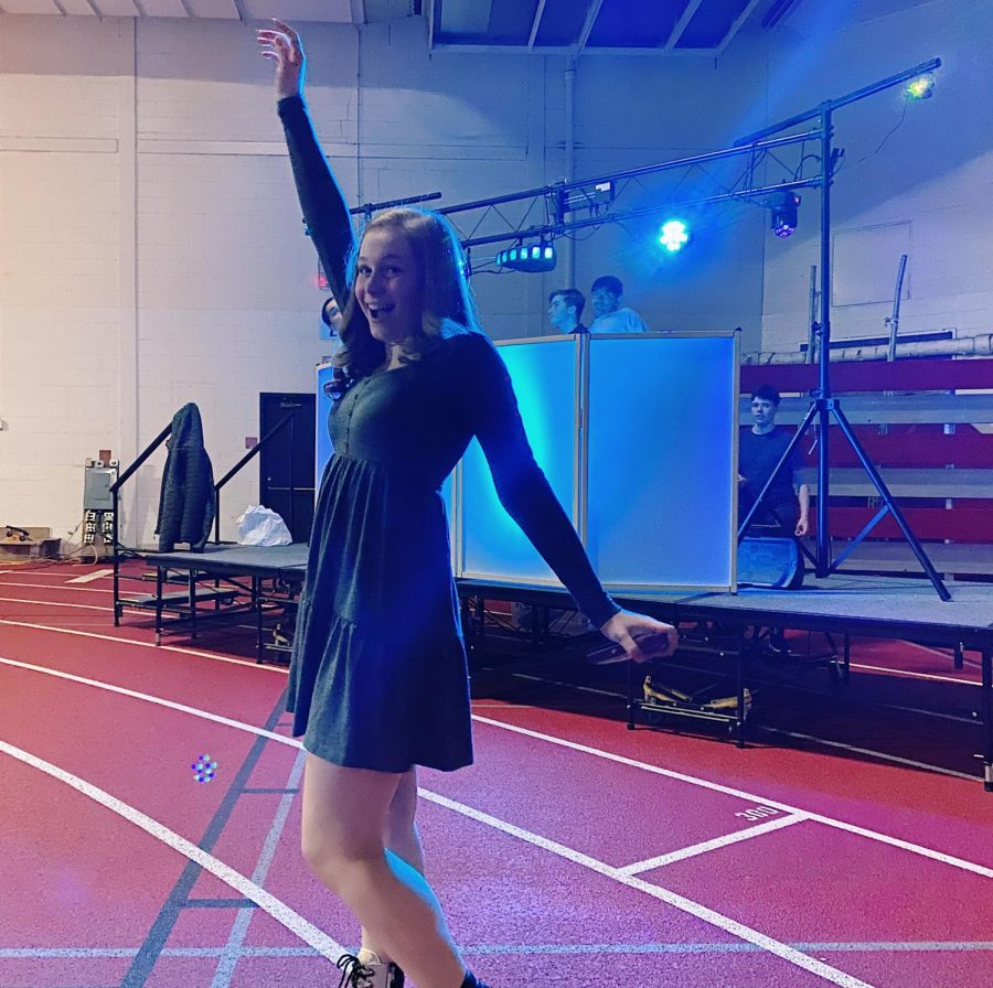 Junior Skylar Penland danced in the field house as the student DJ Tristan Rush played a mix of popular rap and pop songs.
