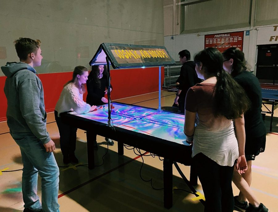 Students enjoyed playing a variety of games including foosball, ping pong, basketball, and air hockey.