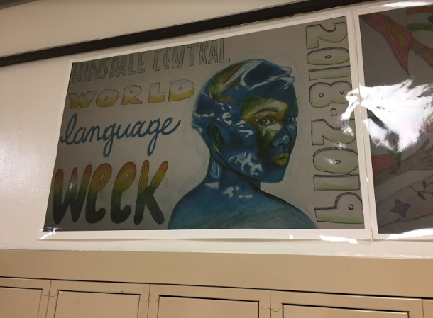 Student-created+World+Language+Week+posters+from+a+poster+contest+adorned+the+halls+of+the+world+language+department.+%0A
