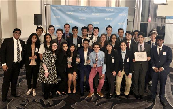 Model UN recently won second place in an international tournament.