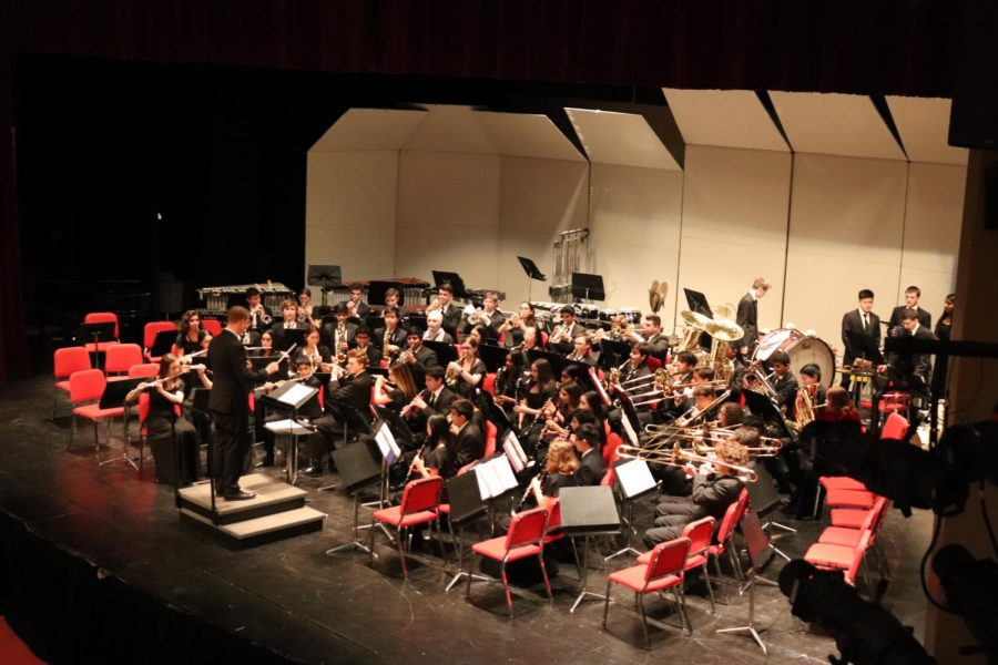 On Feb. 25, Central's bands played many pieces throughout the evening for their annual Winter Concert. Wind Ensemble performs