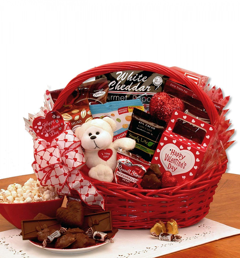 Combining all their favorite gifts into one basket is a whole basket of joy and will put a smile on their face.