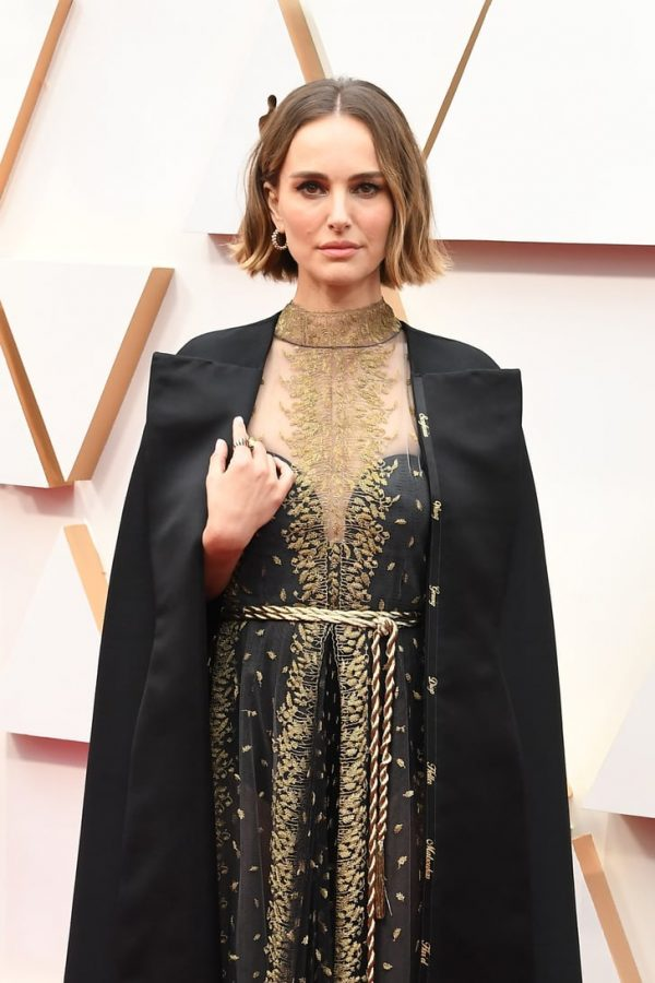 Natalie Portman wore a custom Dior cape to the Oscars embedded with the names of eight female directors overlooked in the nominations: Lorene Scafaria, Lulu Wang, Greta Gerwig, Mati Diop, Marielle Heller, Melina Matsoukas, and Alma Har'el.