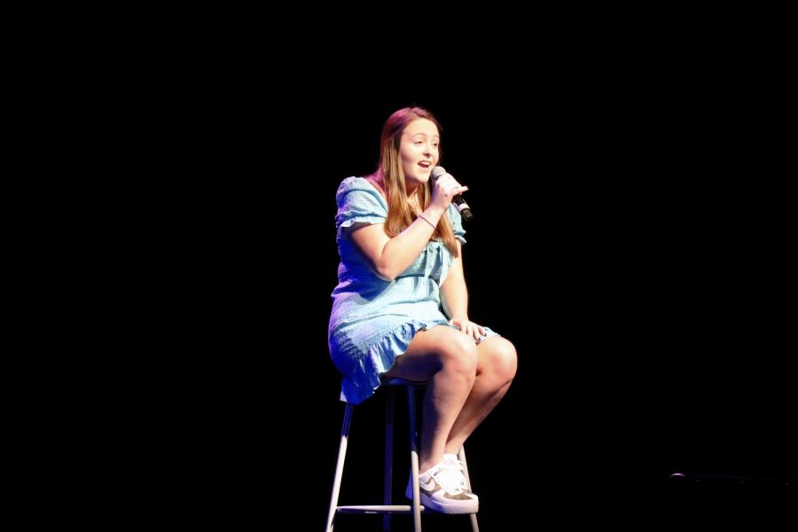 Grace Deering, senior, sang the song