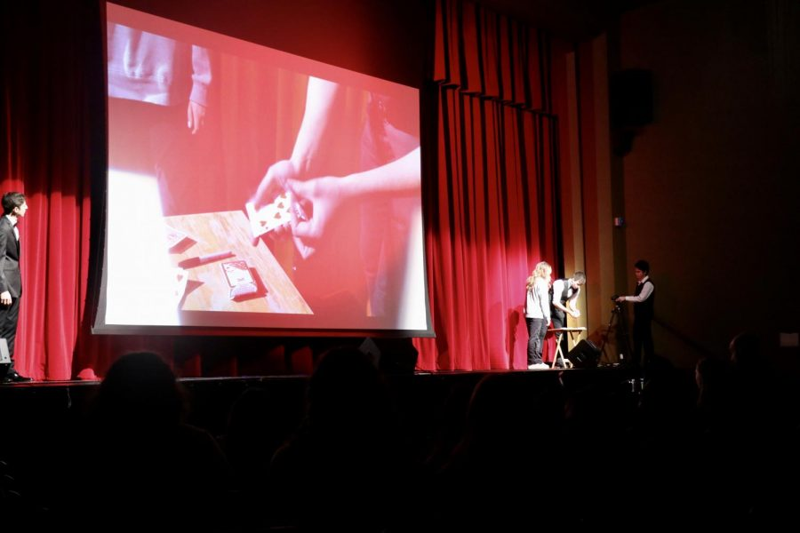 Senior Vukasin Pesic performed three magic tricks with the help of randomly selected audience members.