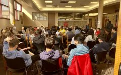 A town hall meeting was held in the library throughout the day on Feb. 27. Students from different backgrounds were asked to speak about diversity and how it affects their daily lives.