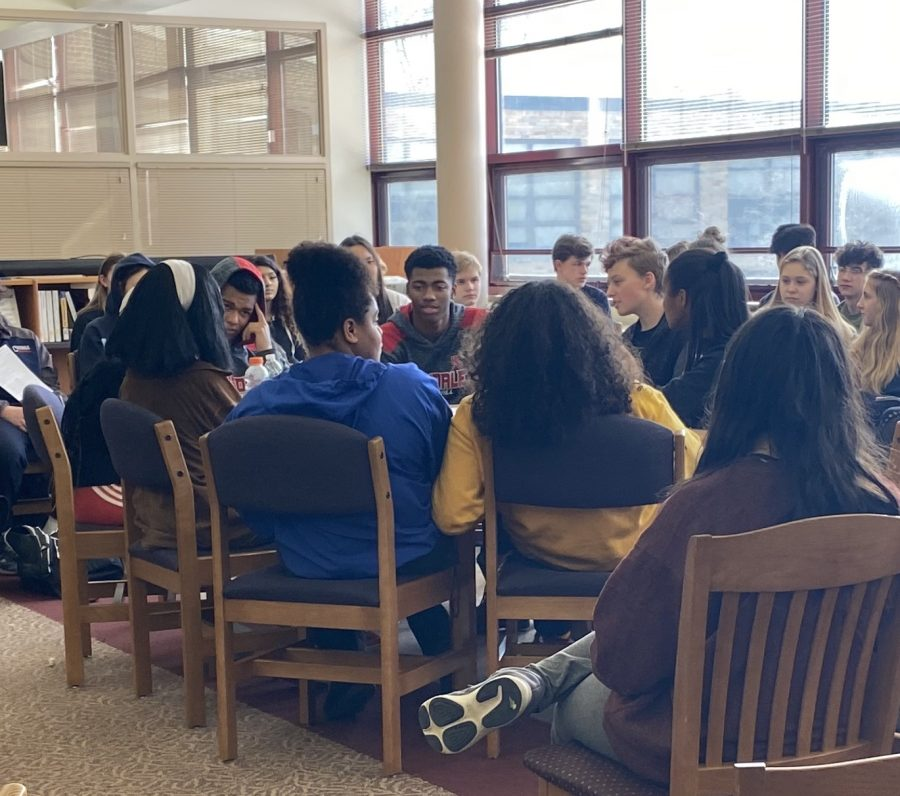 Three separate discussion groups were held on Friday for students to share their experiences with diversity.