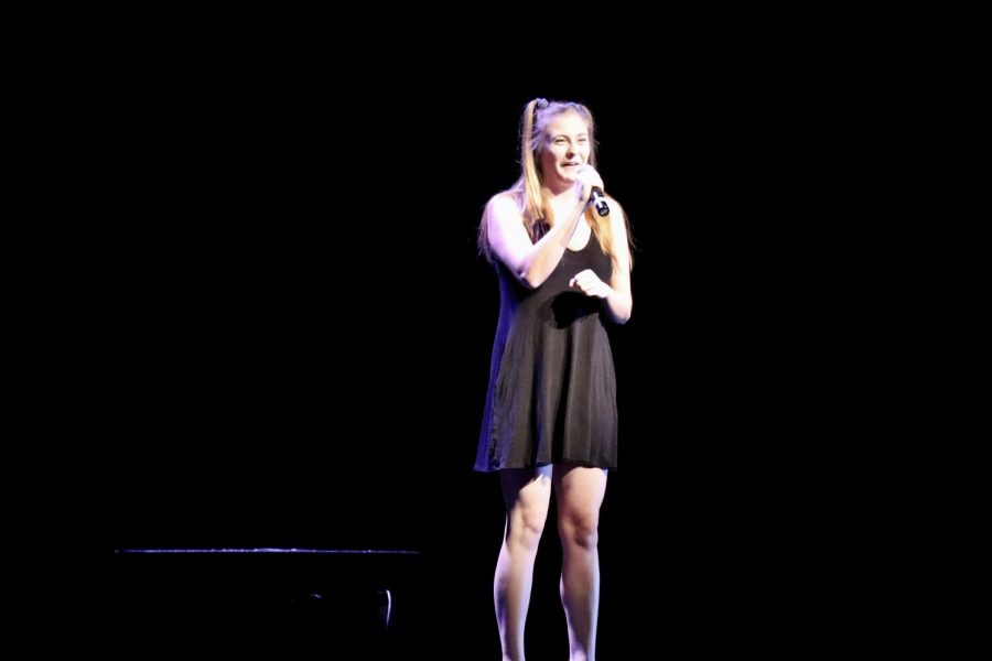 Senior Tess Klygis sang the lead solo in the portion of the Seussical that the cast performed.