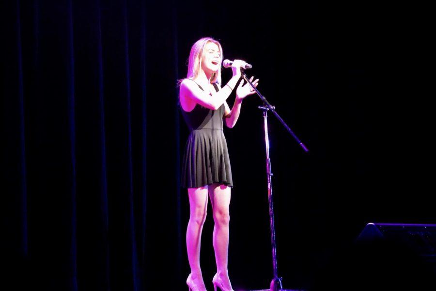 Kristin Mertz, senior, performed the song